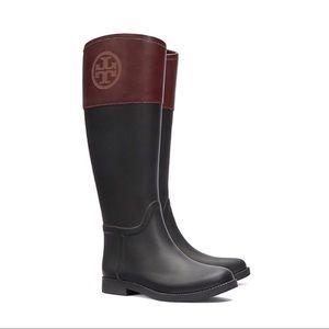 Tory Burch classic leather rain boots